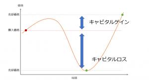 図1:キャピタルゲインとキャピタルロスの解説図